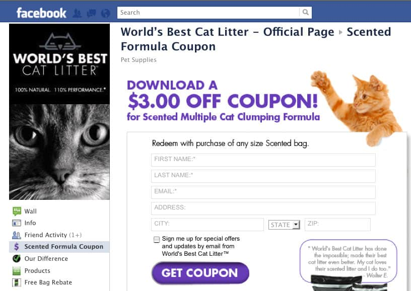Cat litter coupons canada