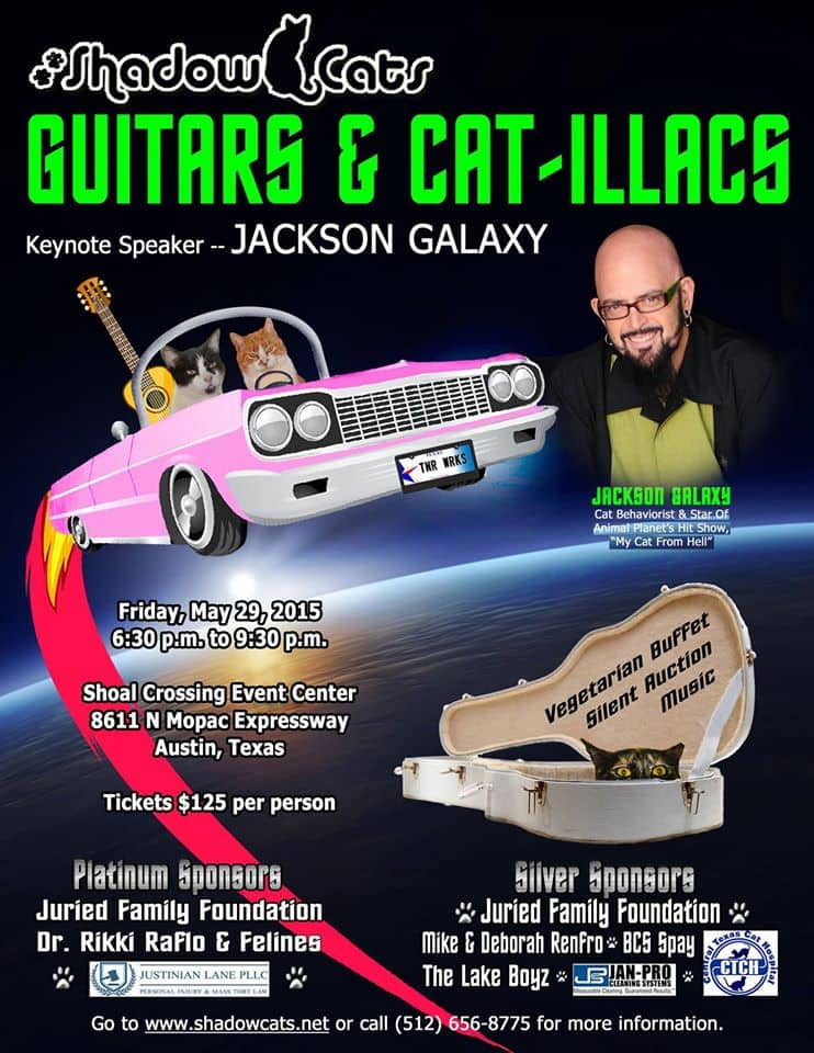 Jackson galaxy to attend shadow cats fundraiser cattipper for Jackson galaxy music
