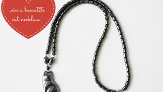 Win a PawZaar Hematite Cat Necklace!