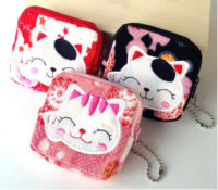 New on PawZaar: Maneki Neko Zippered Coin Purse!