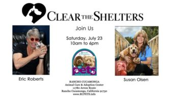 Stars to Help 'Clear the Shelters' at Rancho Cucamonga